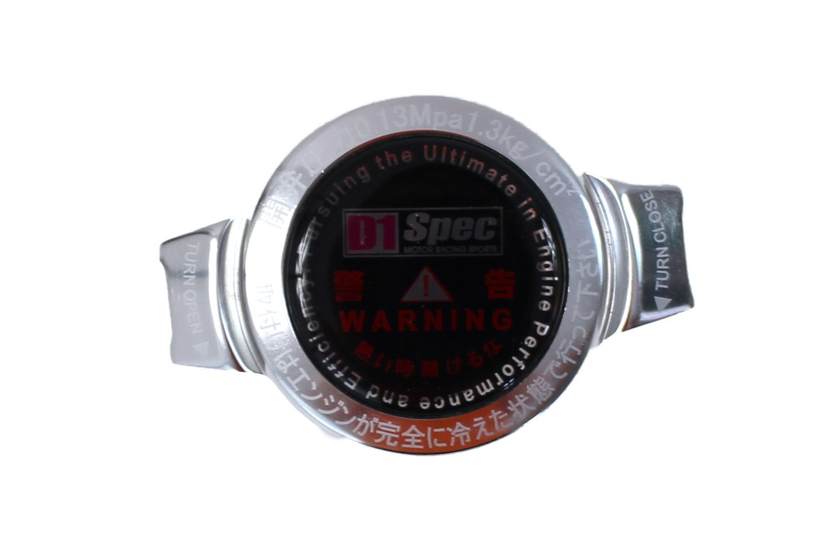 Korek wlewu chłodnicy D1Spec 15mm Silver 1.3Bar - GRUBYGARAGE - Sklep Tuningowy